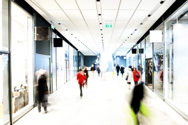 Shopping mall. Retail cleaning Cambridge
