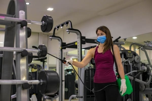 Gym and changing room cleaning service Cambridge